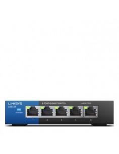 Linksys LGS105 Hallitsematon Gigabit Ethernet (10/100/1000) Musta, Sininen Linksys LGS105-EU-RTL - 1