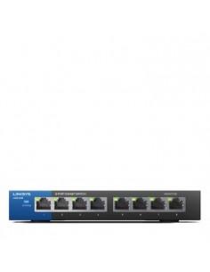 Linksys LGS108 Ohanterad Gigabit Ethernet (10/100/1000) Svart, Blå Linksys LGS108-EU-RTL - 1