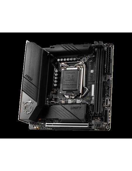 MSI MEG Z490I UNIFY 'Mini-ITX, LGA1200, DDR4, 802.11ax WiFi 6 + Bluetooth 5.1, USB 3.2 Gen2, Type C, M.2 Msi MPG Z490I UNIFY - 4
