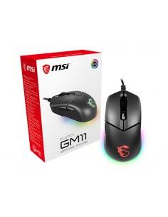 MSI CLUTCH GM11 RGB Optical Gaming '5000 DPI Sensor, 6 Programmable button, Dual-Zone RGB, Symmetrical design Msi S12-0401650-CL