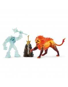 Schleich Battle for the Superweapon – Frost Monster vs. Fire Lion Schleich 42455 - 1
