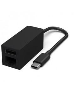 Microsoft Surface USB-C/Ethernet-USB Adapter Male USB Type-C Female RJ45/USB 3.1 Type-A Black Microsoft JWL-00002 - 1
