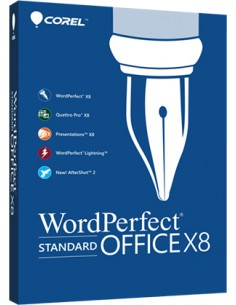 Corel WordPerfect Office X8 Standard 1 lisenssi(t) Monikielinen Corel LCWPX8MLUG1 - 1