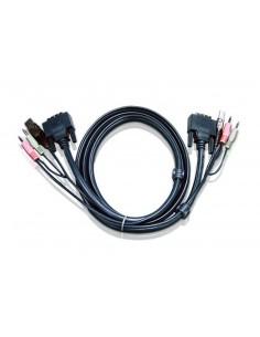 Aten 6ft USB DVI-D Single Link KVM-kaapeli 1,8 m Musta Aten 2L-7D02U - 1