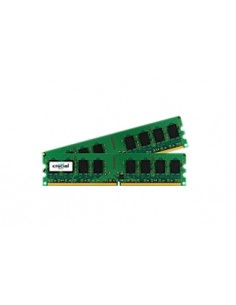 Crucial 2GB DDR2 UDIMM muistimoduuli 2 x 1 GB 800 MHz Crucial Technology CT2KIT12864AA800 - 1