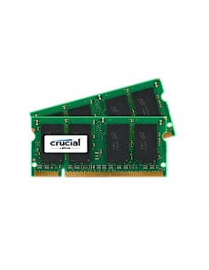 Crucial 2GB DDR2 SODIMM muistimoduuli 2 x 1 GB 800 MHz Crucial Technology CT2KIT12864AC800 - 1