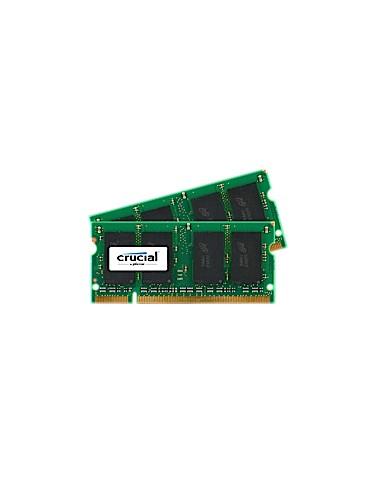 Crucial 2GB DDR2 SODIMM muistimoduuli 2 x 1 GB 800 MHz Crucial Technology CT2KIT12864AC800 - 1