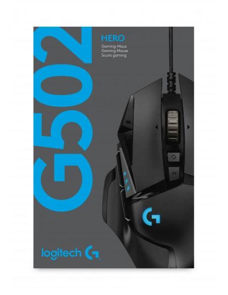 Logitech G502 Hero hiiri USB A-tyyppi Optinen 16000 DPI Oikeakätinen Logitech 910-005470 - 6