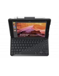Logitech Slim Folio mobiililaitteiden näppäimistö QWERTZ Saksa Musta Bluetooth Logitech 920-009018 - 1