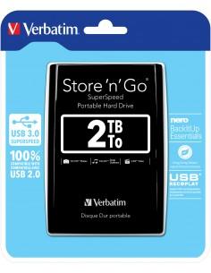Verbatim Store 'n' Go ulkoinen kovalevy 2048 GB Musta Verbatim 53177 - 1