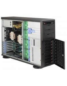 Supermicro 743AC-1200B-SQ Full Tower Rack-Mountable Workstation / Server Case with 1200W 80PLUS Platinum Power Supply Supermicro