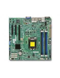 Supermicro X10SLM+-F palvelimen/työaseman emolevy Intel® C224 LGA 1150 (Pistoke H3) mikro ATX Supermicro MBD-X10SLM+-F-O - 1