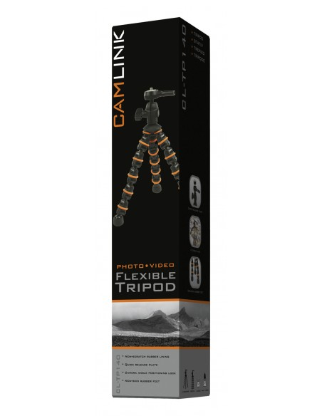 CamLink CL-TP140 kolmijalka Digitaalinen ja elokuva-kamerat 3 jalkoja Musta, Oranssi Camlink CL-TP140 - 12
