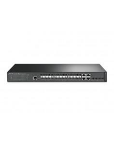 TP-LINK T2600G-28SQ verkkokytkin Hallittu L2 Gigabit Ethernet (10/100/1000) Musta Tp-link T2600G-28SQ - 1