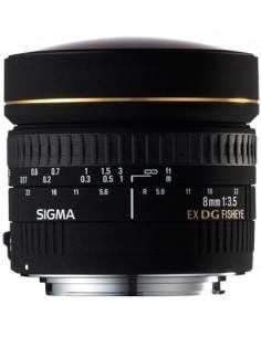 Sigma 8mm F3,5 Fish Eye Circulaire DG EX (Canon) Musta Sigma 485927 - 1