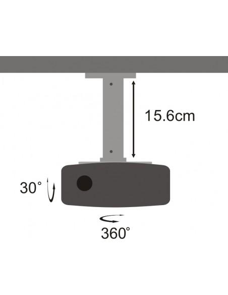 SBOX PM-101 projektorin kiinnike Katto Musta, Hopea Sbox PM-101 - 3