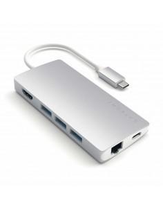 Satechi ST-TCMA2S keskitin USB 3.2 Gen 1 (3.1 1) Type-C 5000 Mbit/s Hopea Satechi ST-TCMA2S - 1