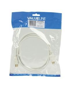 Valueline 1.5m HDMI m/m HDMI-kaapeli 1.5 m HDMI-tyyppi A (vakio) Valkoinen Valueline VGVP34000W15 - 1
