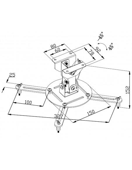 Valueline VLM-PM10 projektorin kiinnike Katto/seinä Musta Valueline VLM-PM10 - 5