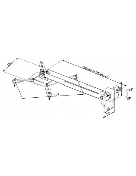 Valueline VLM-PM30 projektorin kiinnike Katto/seinä Musta Valueline VLM-PM30 - 5