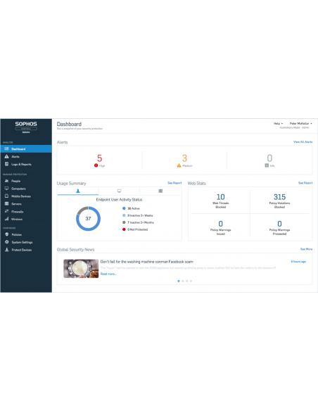 Sophos Central Server Protection Advanced Uusiminen Sophos CSAE1CTAA - 5