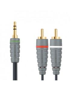 Bandridge Portable Audio Cable 3m audiokaapeli 3.5mm 2 x RCA Musta Bandridge BBM22000W30 - 1