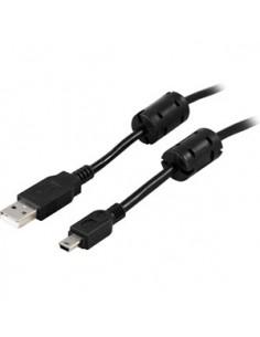 Deltaco USB 2.0 Cable A/mini B, 2m USB-kaapeli A Mini-USB B Musta Deltaco USB-26FS - 1