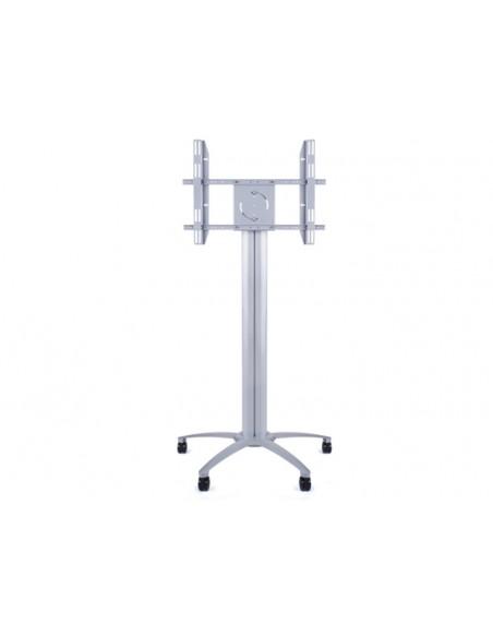 Multibrackets M Public Display Stand Pillar 70 Silver, incl. 220V Power Rail Multibrackets 7350073730674 - 2