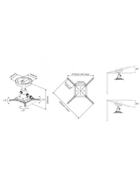 Multibrackets 0728 projektorin kiinnike Katto Valkoinen Multibrackets 7350073730728 - 3