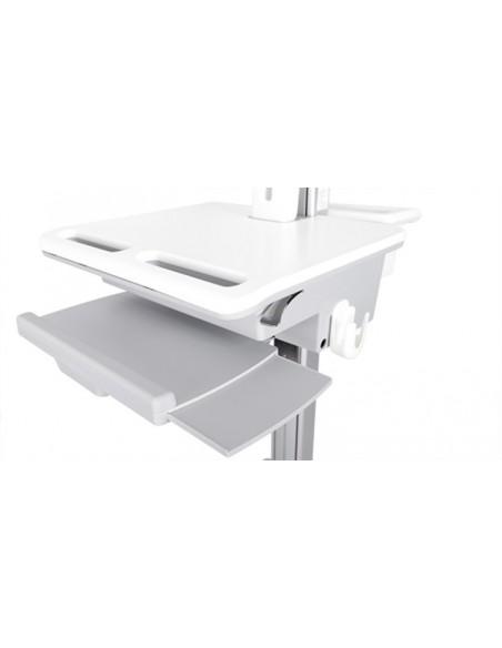 Multibrackets 0773 multimediavagnar & ställ Silver, Vit PC Multimediavagn Multibrackets 7350073730773 - 4