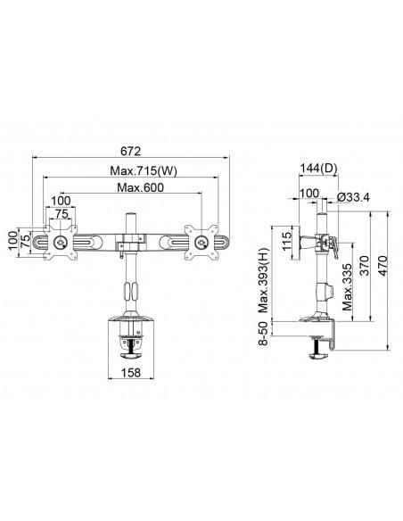 Multibrackets 4665 monitorikiinnikkeen lisävaruste Multibrackets 7350073734665 - 7