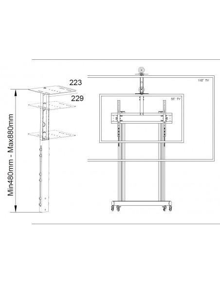 "Multibrackets M Public Display Camera Holder 65""-110"" Black Multibrackets 7350073734849 - 2"