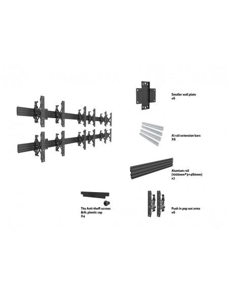 """Multibrackets 5006 kyltin näyttökiinnike 165.1 cm (65"""") Musta Multibrackets 7350073735006 - 7"""