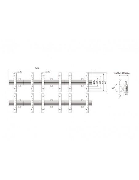 """Multibrackets 5006 kyltin näyttökiinnike 165.1 cm (65"""") Musta Multibrackets 7350073735006 - 11"""