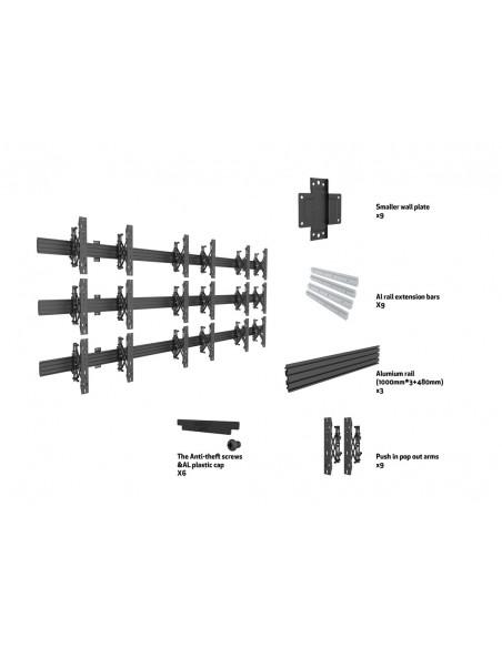 """Multibrackets 5013 fäste för skyltningsskärm 165.1 cm (65"""") Svart Multibrackets 7350073735013 - 7"""