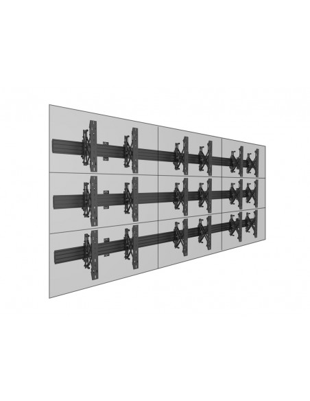 """Multibrackets 5013 kyltin näyttökiinnike 165.1 cm (65"""") Musta Multibrackets 7350073735013 - 12"""