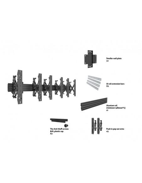 """Multibrackets 5037 kyltin näyttökiinnike 139.7 cm (55"""") Musta Multibrackets 7350073735037 - 7"""