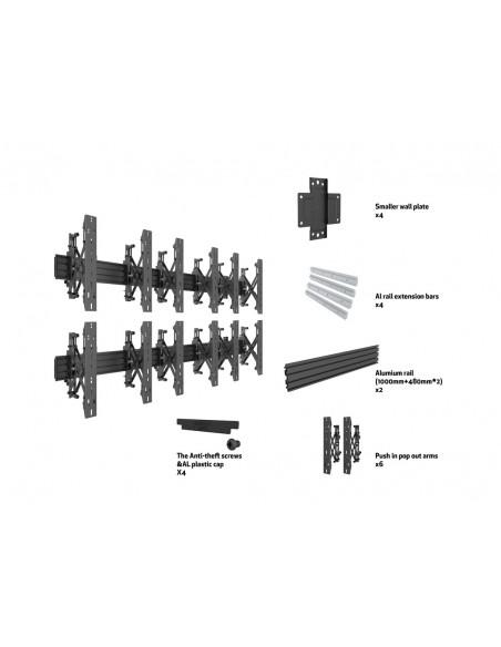 """Multibrackets 5044 kyltin näyttökiinnike 139.7 cm (55"""") Musta Multibrackets 7350073735044 - 7"""