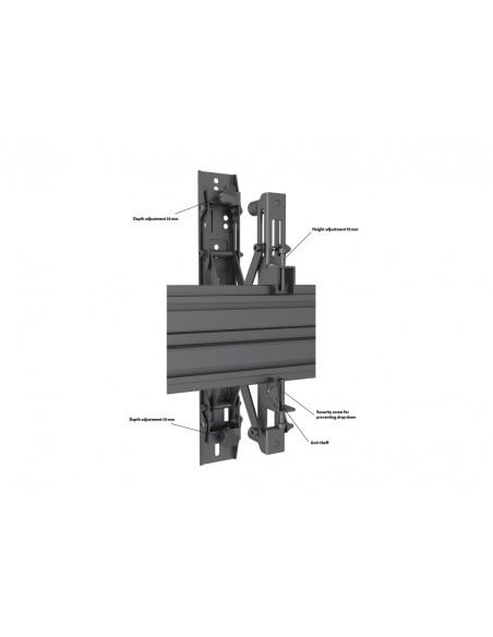 """Multibrackets 5044 fäste för skyltningsskärm 139.7 cm (55"""") Svart Multibrackets 7350073735044 - 9"""