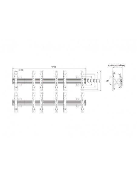 """Multibrackets 5044 fäste för skyltningsskärm 139.7 cm (55"""") Svart Multibrackets 7350073735044 - 11"""