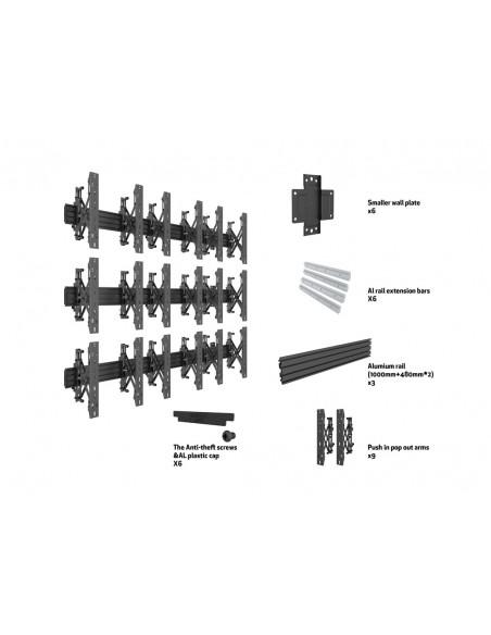 """Multibrackets 5051 fäste för skyltningsskärm 139.7 cm (55"""") Svart Multibrackets 7350073735051 - 7"""