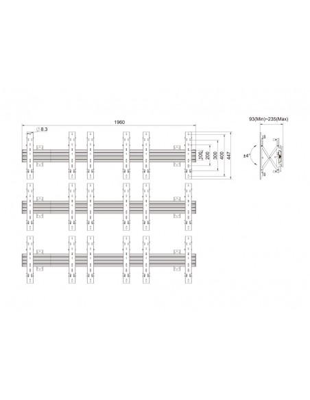 """Multibrackets 5051 kyltin näyttökiinnike 139.7 cm (55"""") Musta Multibrackets 7350073735051 - 11"""