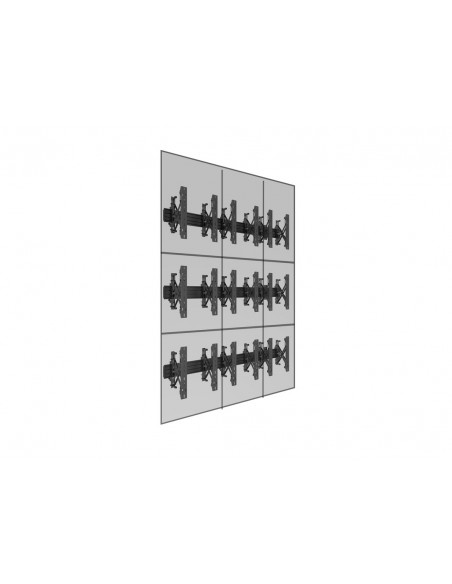 Multibrackets M Wallmount Pro MBW3x3UP Push In Pop Out Black Multibrackets 7350073735051 - 12