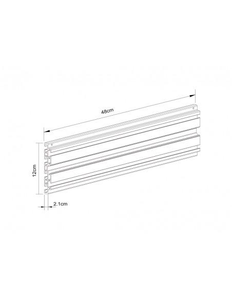 Multibrackets M Pro Series - Single Screen Rail 48cm Black Multibrackets 7350073735082 - 3