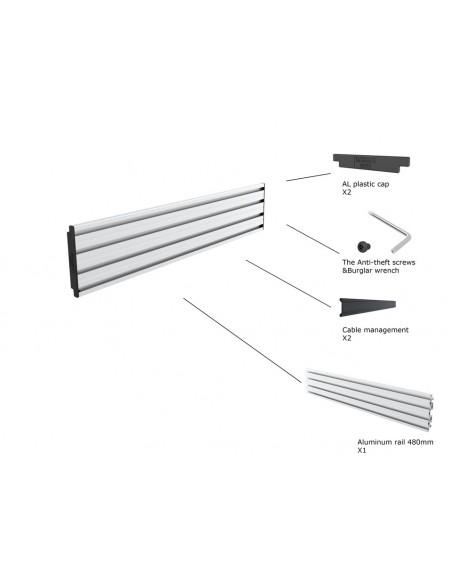 Multibrackets M Pro Series - Single Screen Rail 48cm Silver Multibrackets 7350073735099 - 2