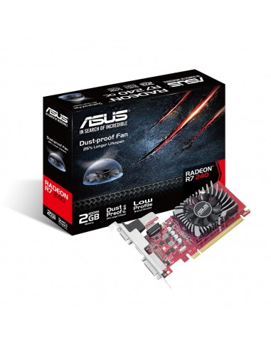 ASUS R7240-2GD5-L AMD Radeon R7 240 2 GB GDDR5 Asustek 90YV0BG1-M0NA00 - 1