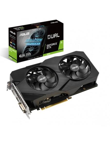 ASUS Dual -GTX1660-O6G EVO NVIDIA GeForce GTX 1660 6 GB GDDR5 Asustek 90YV0D11-M0NA00 - 1