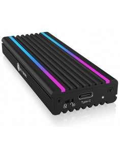 ICY BOX IB-1824ML-C31 SSD-inkapsling Svart M.2 Raidsonic 60717 - 1