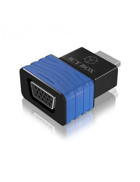 ICY BOX HDMI - VGA, M/F Black, Blue Raidsonic 70544 - 1