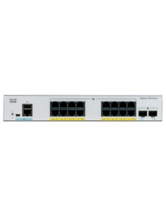 Cisco Catalyst C1000-16P-E-2G-L verkkokytkin Hallittu L2 Gigabit Ethernet (10/100/1000) Power over -tuki Harmaa Cisco C1000-16P-